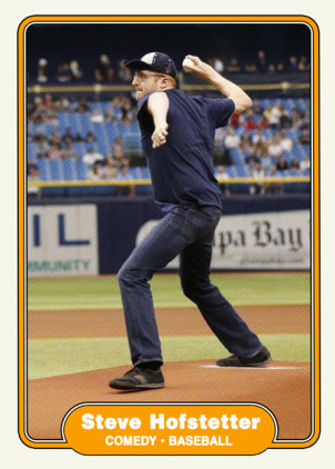 Steve Hofstetter throws a first pitch