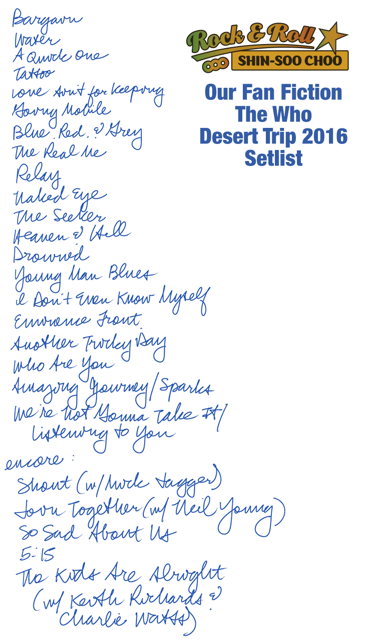 The Who Setlist
